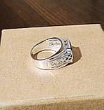 Срібне чоловіче кільце з синім каменем, фото 5