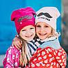 """Весенняя шапочка для девочки """"Элла"""" малинового цвета."""