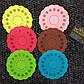 """Резиновые подставки под кружку """"Ажур"""" разные цвета 6 шт в наборе., фото 4"""