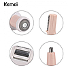 Эпилятор Kemei KM-3024 беспроводной аккумуляторный + насадки для чистки и массажа лица 3В Розовый, фото 8