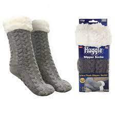 Плюшеві шкарпетки-тапочки Huggle Slipper Socks