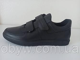 Шкіряні чоловічі кросівки на липучках арт. ZX