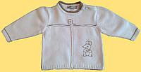 """Белый вязанный детский джемпер для новорожденного, """"Мышка"""", 68, 74 см"""