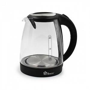 Дисковый электрический чайник Domotec MS-8110 С подсветкой Чёрный