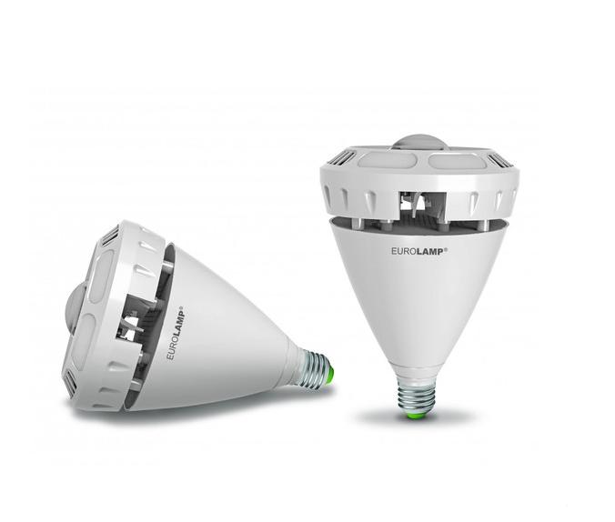 """Лампа светодиодная EUROLAMP LED """"око"""" 60W E40 6500K 6000 Lm (LED-HP-60406)"""