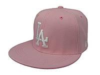 Розовая кепка для девушек с прямым козырьком