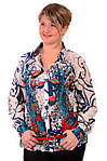 Рубашка туника из полипрованного хлопка,46,48,50,52,54 , Бл 001-1., фото 3