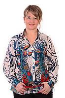 Рубашка туника из полипрованного хлопка,46,48,50,52,54 , Бл 001-1.