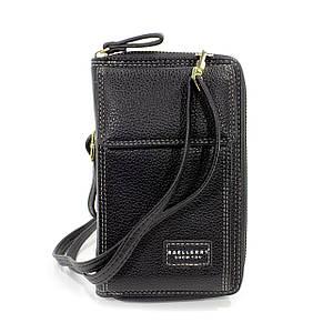 Женский кошелек Baellerry N0105 Black горизонтальное+вертикальное расположение сумка-клатч для девушек