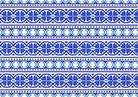 Картинка вафельная А4 Вышиванка синяя