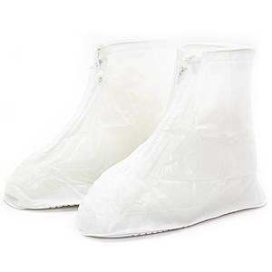 Гумові бахіли Lesko SB-101 білий р. 38/39 на взуття від дощу, бруду, сльоти водонепроникні