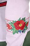 """Рубашка с вышивкой в украинском стиле ,рисунок  """"маки"""",46,48,50,52,54 , Бл 001-4, фото 2"""