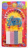 Набор свечек Happy Birthday пластик