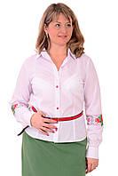 """Рубашка с вышивкой в украинском стиле ,рисунок  """"маки"""",46,48,50,52,54 , Бл 001-4"""
