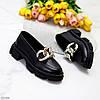 Эффектные кожаные черные женские туфли натуральная кожа на массивной подошве 37-24 / 38-24,5см, фото 8