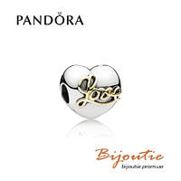 Pandora шарм-клипса СЕРДЦЕ ЛЮБВИ 791735 серебро 925 Пандора оригинал