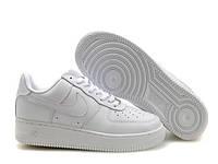 """Кроссовки женские/мужские кожаные Nike Air Force """"Белые"""" р. 36-45"""