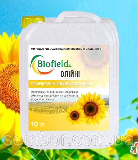 Микроудобрения гумат на   Подсолнечник біофілд Biofield 10 л
