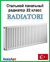 Стальной радиатор Radiatori 22k 300*1500 боковое подключение