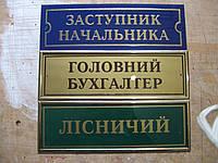 Таблички кабинетные на акриле
