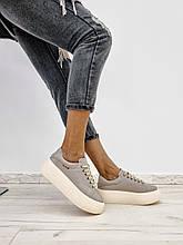 Женские кожаные кеды на платформе Classic New (разные цвета)