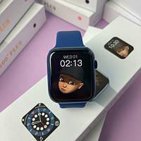 Стильные Умные смарт часы Т500+ копия Apple watch 6/44мм Т500+ Plus / Умные часы Т500+ Plus Синие