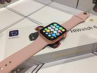 Стильные Умные смарт часы Т500+ копия Apple watch 6/44мм Т500+ Plus / Умные часы Т500+ Plus Розовые синий