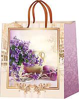 Красивые бумажные пакеты Цветы размер 24 х 24 см (12 шт./уп.)