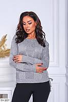 Гарний святковий жіночий светр, кофта з легкої в'язки люрекс великого розміру 48-52 арт 4134