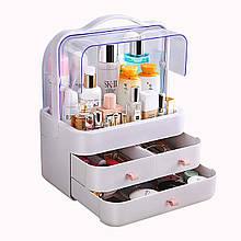 Органайзер для косметики Cosmetic Storage Box, білий бокс для косметичних засобів