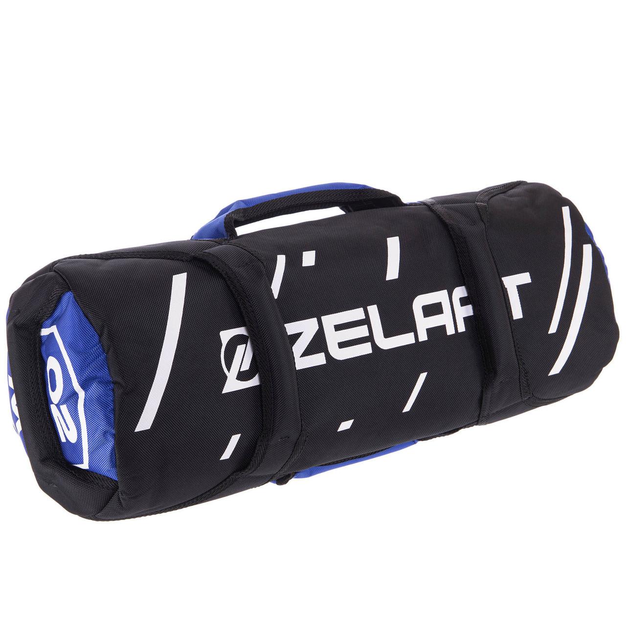 Сумка для кроссфита Zelart Sandbag FI-2627-M (MD1687-M) синій-чорний