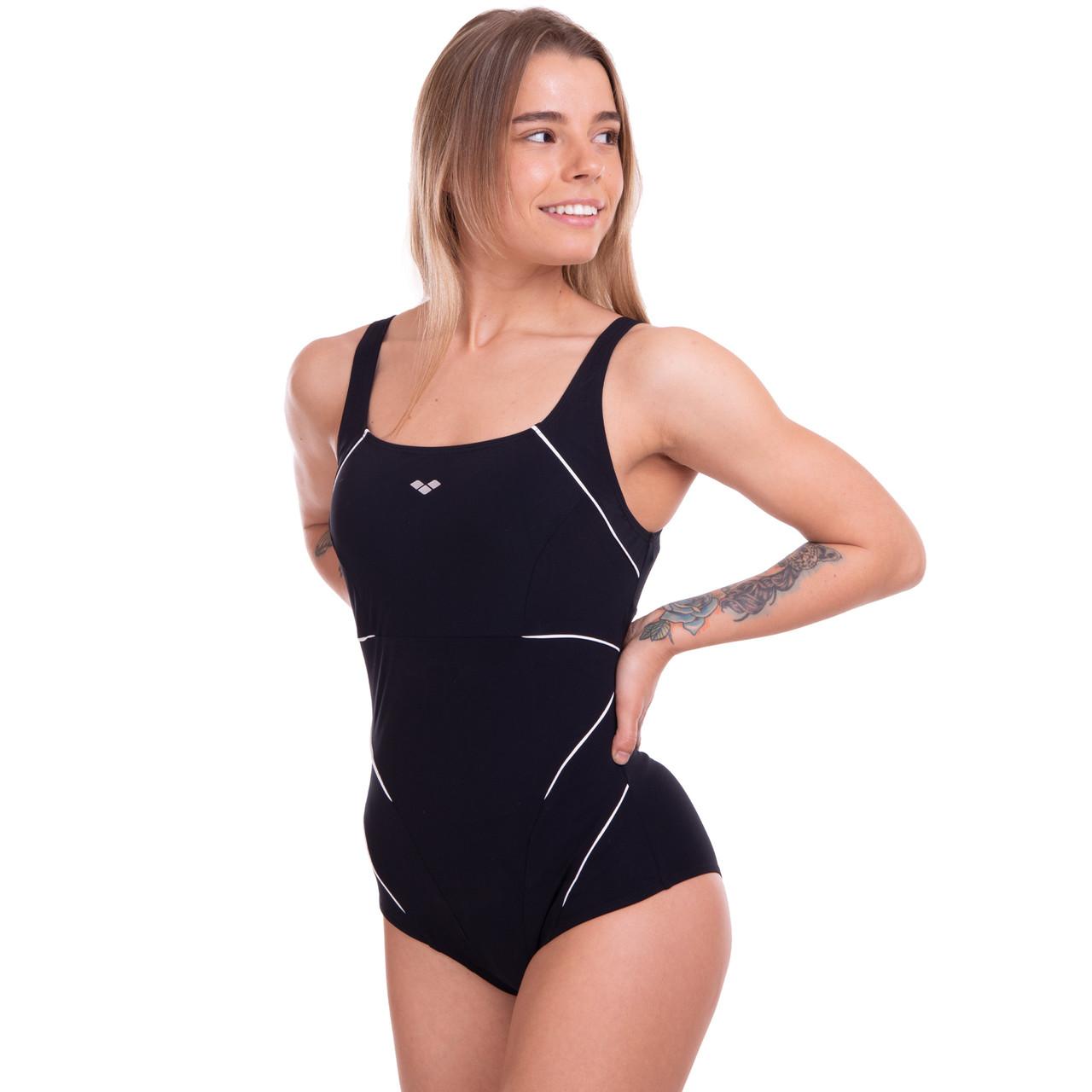 Купальник спортивный для плавания слитный женский ARENA JEEL AR-2A009-51 30-40-USA черный