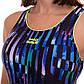 Купальник спортивный для плавания слитный женский MADWAVE FlEX E3 M015020 S-M фиолетовый S-44, фото 7