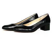 Туфли на широком каблуке с закругленными носками, фото 1
