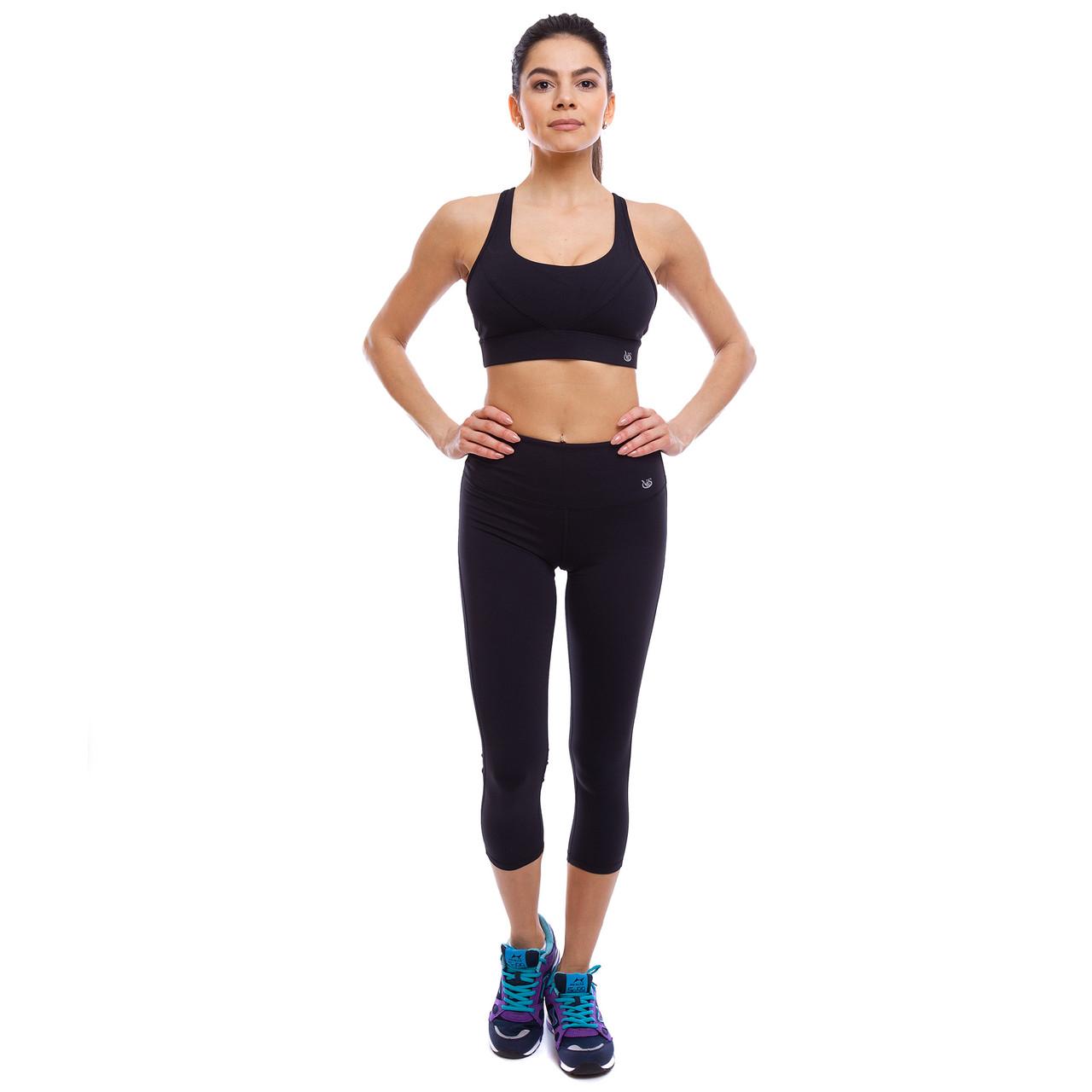 Комплект спортивный для фитнеса и йоги (бриджи и топ) V&X WX1215-BK1216 S-L цвета в ассортименте L (46-48)