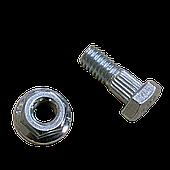 Болт з гайкою сегмента Шумахер 6х16 (John Deere) з шестигранною головкою оцинкований