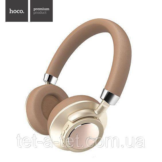 Бездротові накладні навушники Hoco W10 Cool Yin Wireless Headphone Brown\Gold