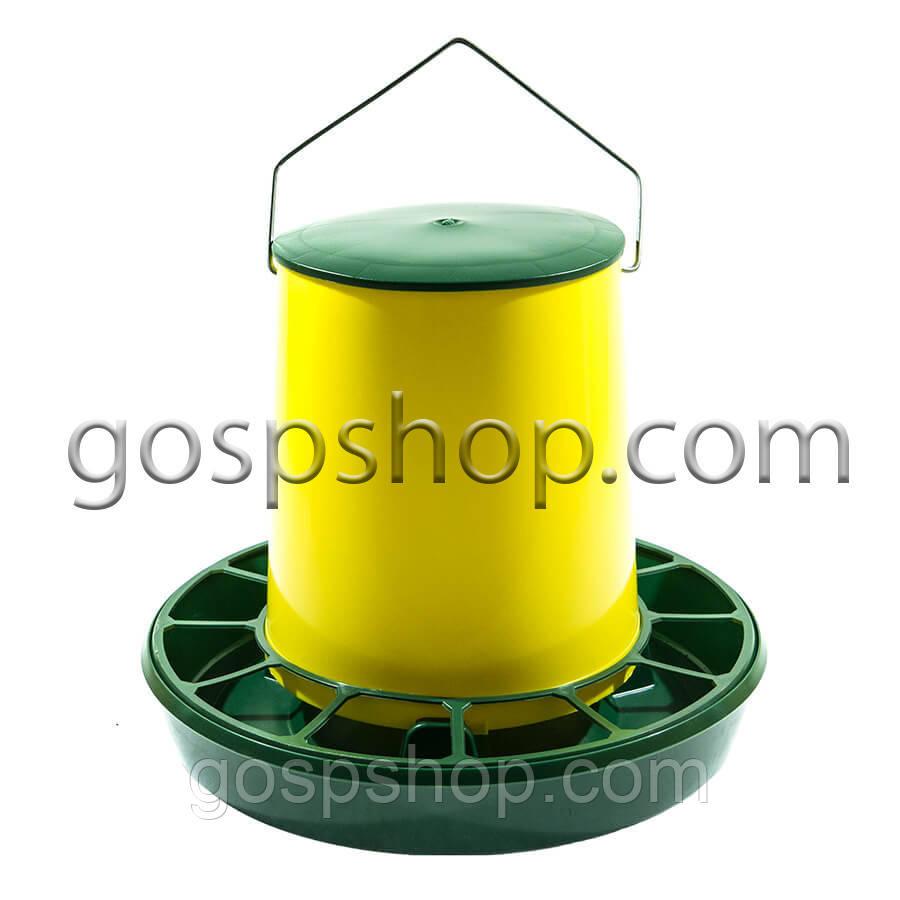 Бункерная кормушка на 6,2 л / 4,2 кг с ручкой для бройлеров кур несушек, уток, гусей, индюков, перепелов