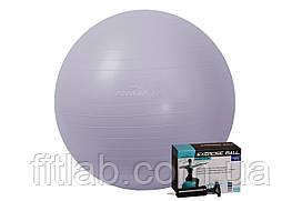 М'яч для фітнесу PowerPlay 4001 75см Sky Blue + насос