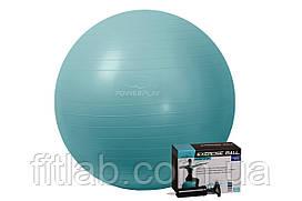 М'яч для фітнесу PowerPlay 4001 75см Зелений + насос