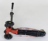 Самокат дитячий Best Scooter Maxi А 24661/779-1310 з похилим поворотом керма і світяться колесами, фото 4
