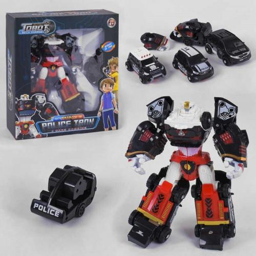 """Робот-трансформер 4 в 1 """"Tobot Police Tron"""" 521 перетворюється в 3 поліцейських машинки"""