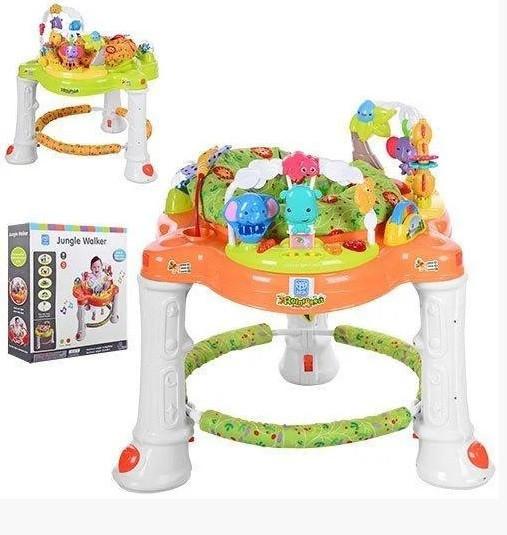 Ігровий центр-ходунки для дитини 63567 (1606070) з гральним столиком і звуковими ефектами (2 види)