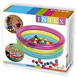 Надувной бассейн для детей от 1 года в комплекте 50 шариков Intex 48674 (размер 86*25 см) (объем 68 л), фото 3