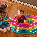 Надувной бассейн для детей от 1 года в комплекте 50 шариков Intex 48674 (размер 86*25 см) (объем 68 л), фото 4