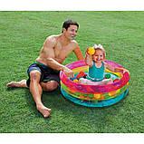 Надувной бассейн для детей от 1 года в комплекте 50 шариков Intex 48674 (размер 86*25 см) (объем 68 л), фото 5