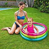 Надувной бассейн для детей от 1 года в комплекте 50 шариков Intex 48674 (размер 86*25 см) (объем 68 л), фото 6