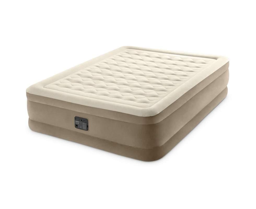 Двомісна надувна ліжко-матрац з вбудованим насосом Intex 64428, (розмір 203х152х46 см), колір бежевий