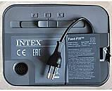 Двомісна надувна ліжко-матрац з вбудованим насосом Intex 64428, (розмір 203х152х46 см), колір бежевий, фото 7
