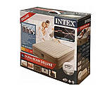 Двомісна надувна ліжко-матрац з вбудованим насосом Intex 64428, (розмір 203х152х46 см), колір бежевий, фото 9